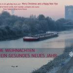 Bild mit Text - Wünsche für Weihnachten und das neue Jahr